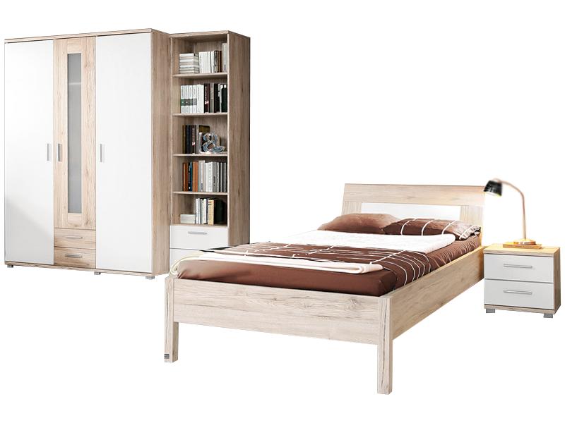 FORTE Beach Jugendzimmer 4-teilig mit Bett Liegefläche ca. 90x200cm ...