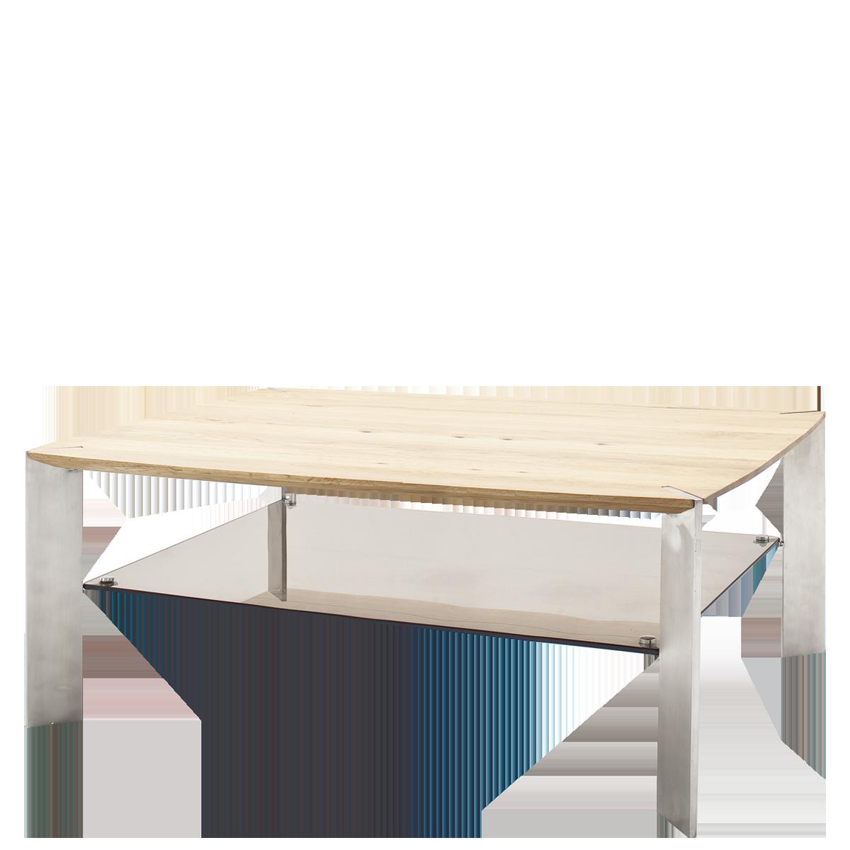 Mca Furniture Couchtisch Nelia 120 Mit Platte Aus Asteiche