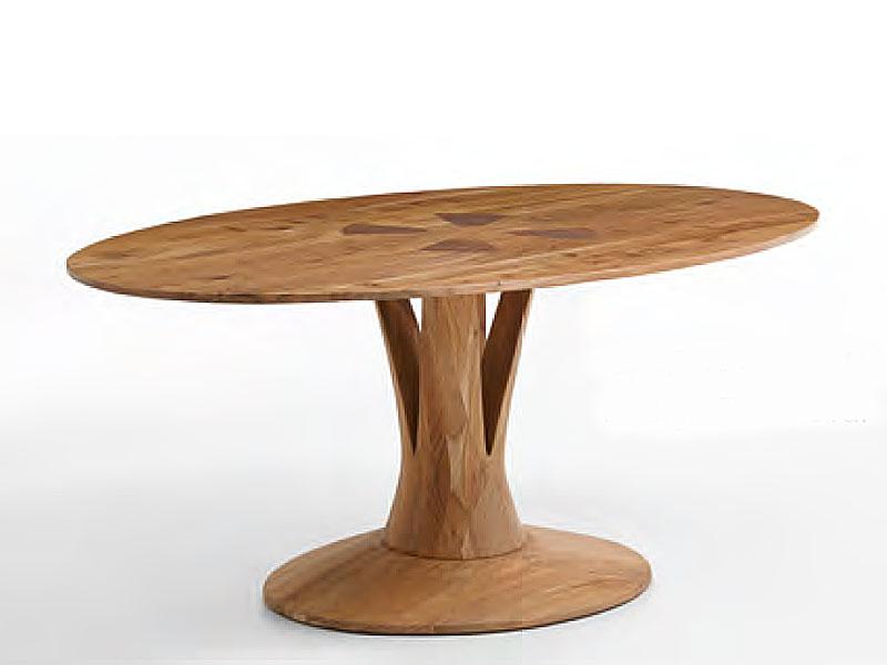 Niehoff Java Esstisch 4483 Ovale Platte In Akazie Massivholz Natural