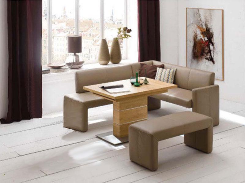 K+W Möbel Santo 4178 4 Teilige Essgruppe Eckbank Bankelement Anbauelement  Tisch Für Esszimmer Silaxx ...