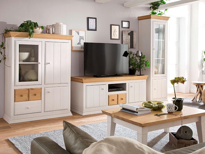 Wohnzimmer Board | Euro Diffusion Sylt Wohnzimmer Aus Kiefer Massivholz Mit 1 Kommode 1