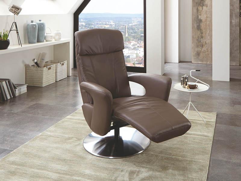 hukla relaxsessel dreamliner medium im bezug leder 58 vivre smoke basis variante mit metallfu. Black Bedroom Furniture Sets. Home Design Ideas