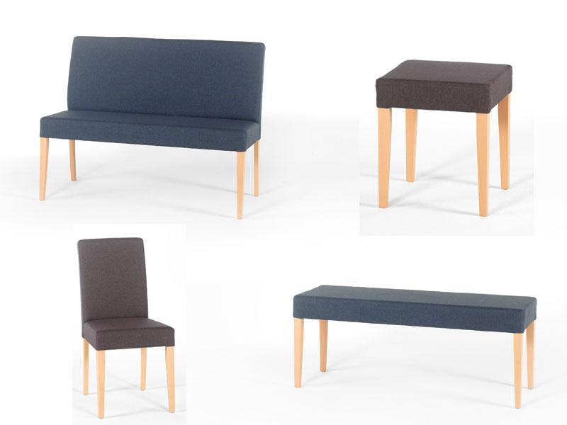 ... Standard Furniture Stuhl Oder Hocker Aus Dem System Ellen Polsterstuhl  Oder Polsterhocker Für Esszimmer Gestellfarben Und ...