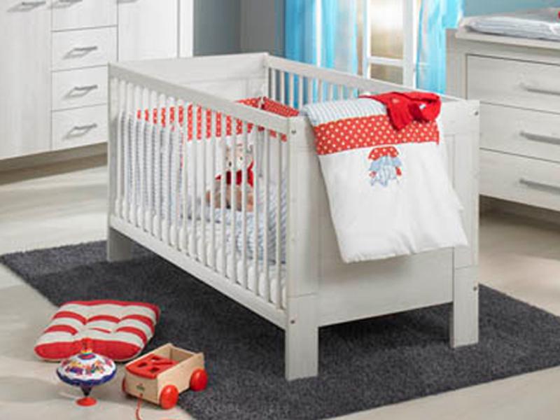 paidi mees babybett bett in scandic wood wei nachbildung. Black Bedroom Furniture Sets. Home Design Ideas