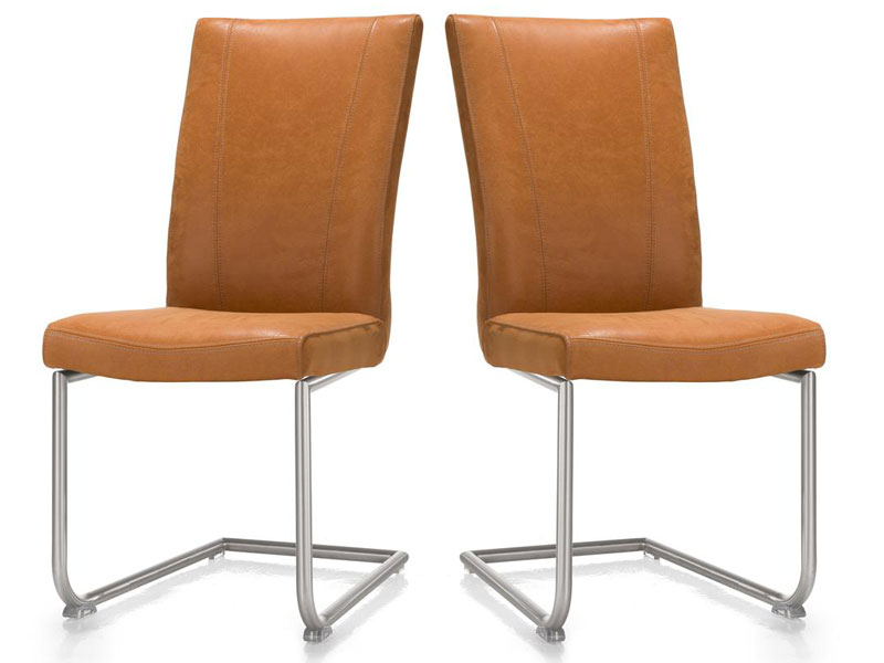 Habufa Sono Freischwinger 2er Set Stuhl Mit Rundrohr