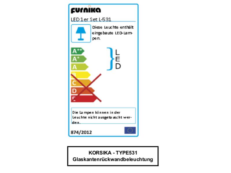 IDEAL-Möbel Wohnwand 4-teilig Korsika Kombination 01 Anbauwand Front ...