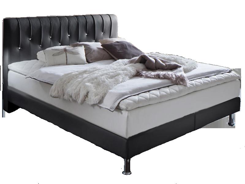 meise m bel boxspringbett meteor mit kunstlederbezug in schwarz oder wei kopfteil mit swarovski. Black Bedroom Furniture Sets. Home Design Ideas