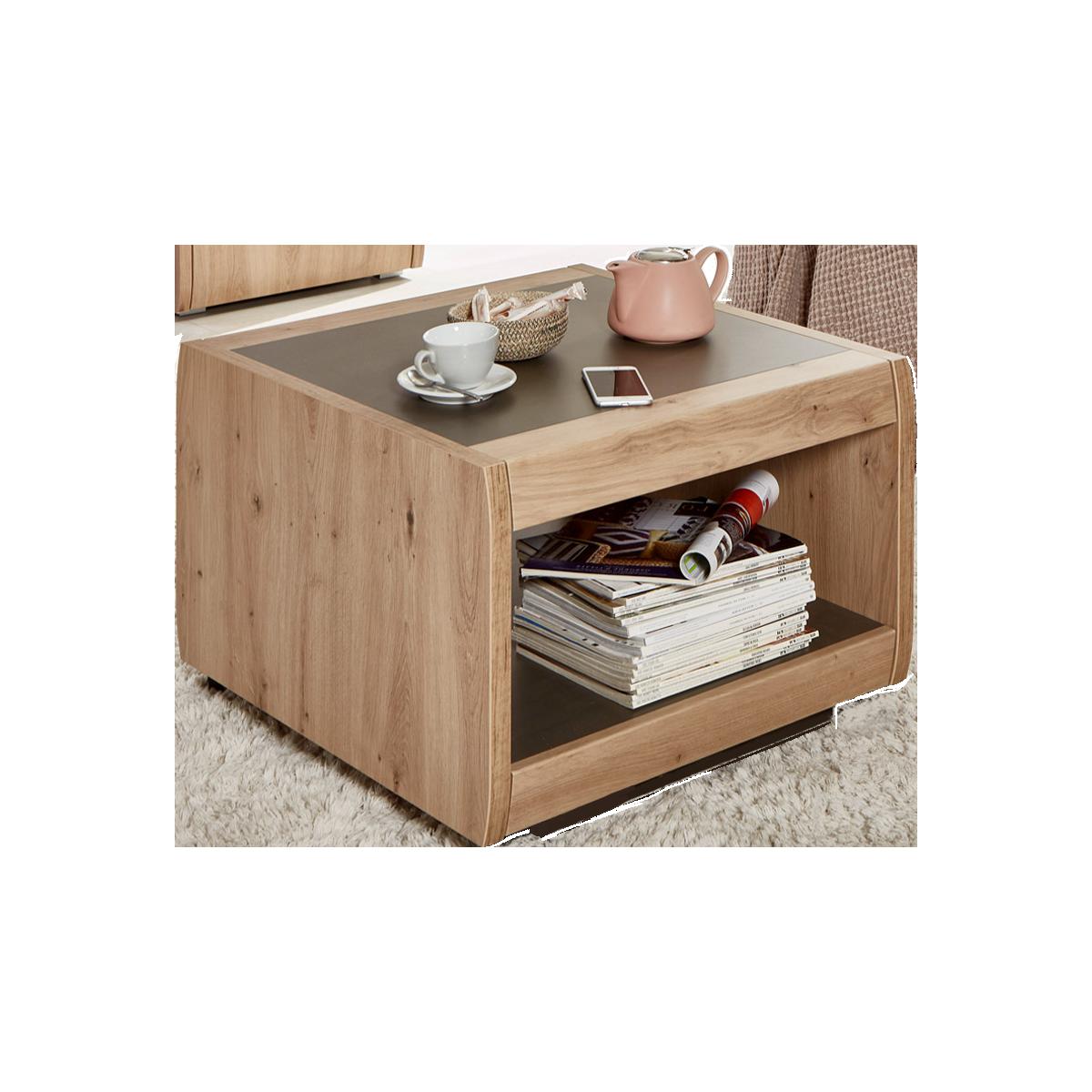 Häufig Ideal-Möbel Couchtisch Austin 70 mit zwei Fächern in Dekor RC68