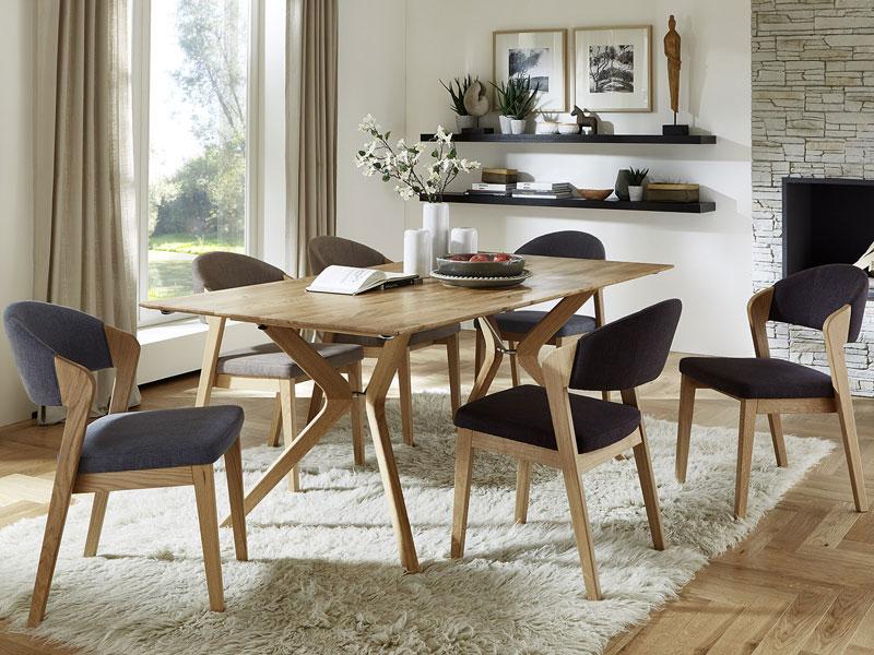 niehoff bozen essgruppe 7 teilig bestehend aus design tafel 6943 und sechs design polsterst hlen. Black Bedroom Furniture Sets. Home Design Ideas