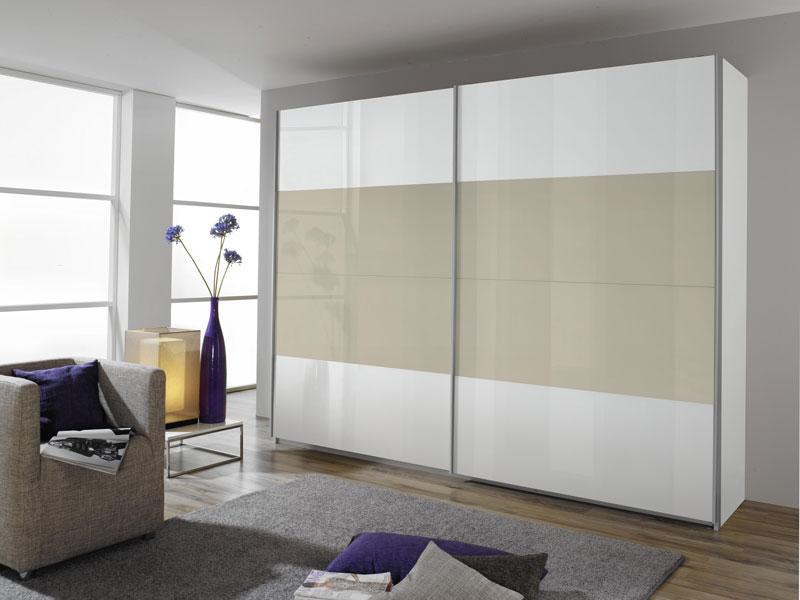 rauch packs quadra schwebet renschrank front in hochglanz wei mit absetzung korpusfarbe und. Black Bedroom Furniture Sets. Home Design Ideas