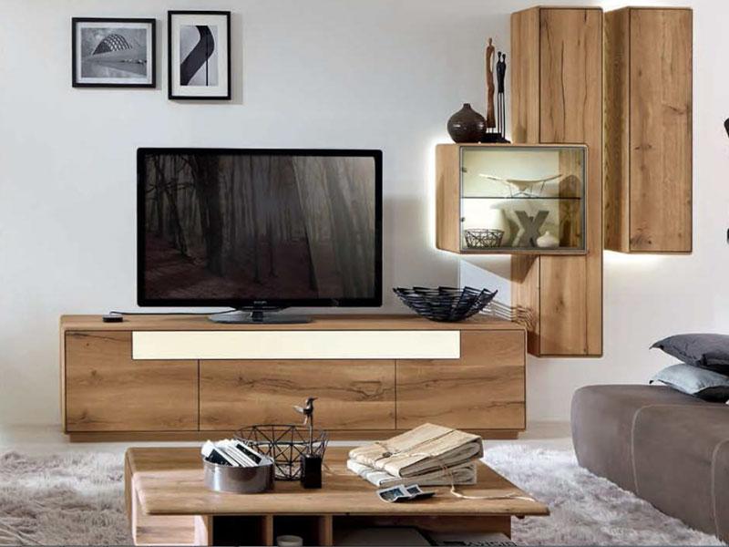 wostmann sineo wohnwand fur wohnzimmer wohnkombination 0003 oder spiegelseitig 0103 anbauwand 4 teilig mit tv