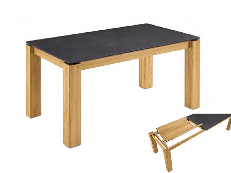 Niehoff ROCA Esstisch Design Ausziehtisch Mit Frontslidefunktion Für Esszimmer  Tisch Mit Massivholz Gestell Ausführung Der ...