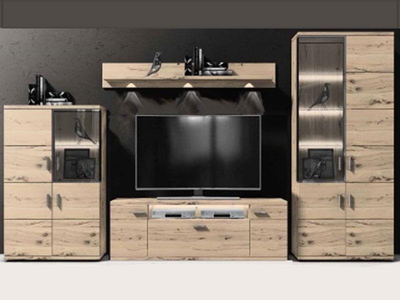 Gut bekannt IDEAL-Möbel Wohnwand Lara Kombination 100 moderne 4-tlg IM34