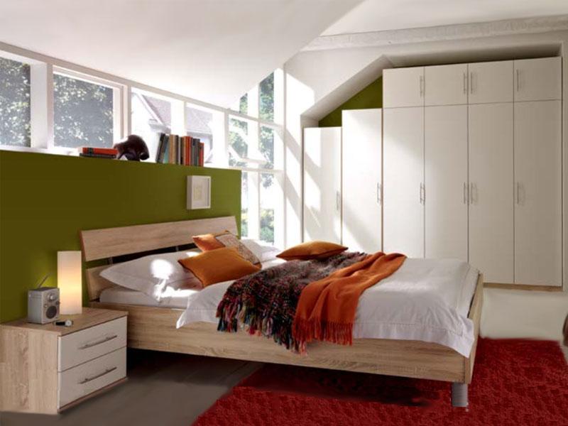 Priess Varia komplettes Schlafzimmer bestehend aus Bett 4-türiger ...