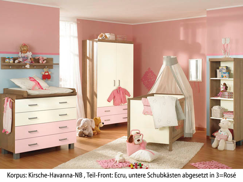 paidi leo babyzimmer 4 teilig bett kommode wickelaufsatz kleiderschrank in kirsche havanna. Black Bedroom Furniture Sets. Home Design Ideas