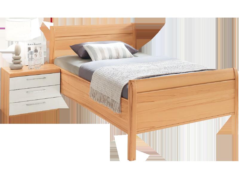 Disselkamp Linea Plus Comfort V Bett Luxushöhe Mit Stollen Kopfteil Liegefläche Und Nachtkonsole Wählbar Korpus In Kernbuche Farbabsetzung Hochglanz
