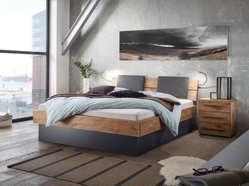 hasena oak wild vintage bett inkl practico box bettrahmen. Black Bedroom Furniture Sets. Home Design Ideas