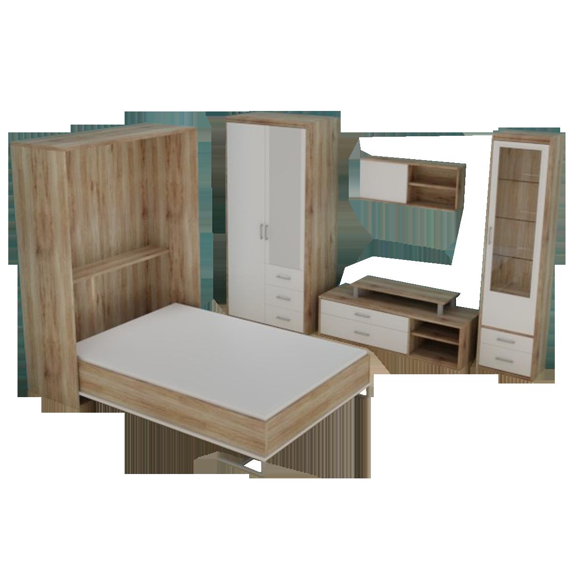 Priess Luna Schlafzimmer 6-teilig mit Schrankbett Drehtürenschrank ...