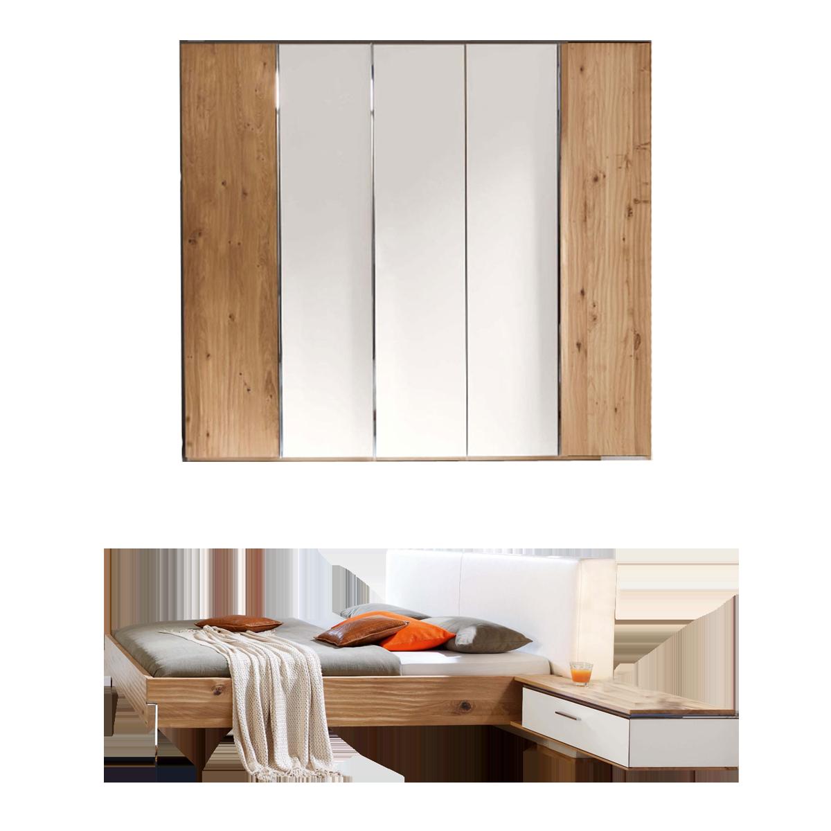 Thielemeyer Loft 4-teiliges Schlafzimmer Ausführung Eiche Massivholz ...