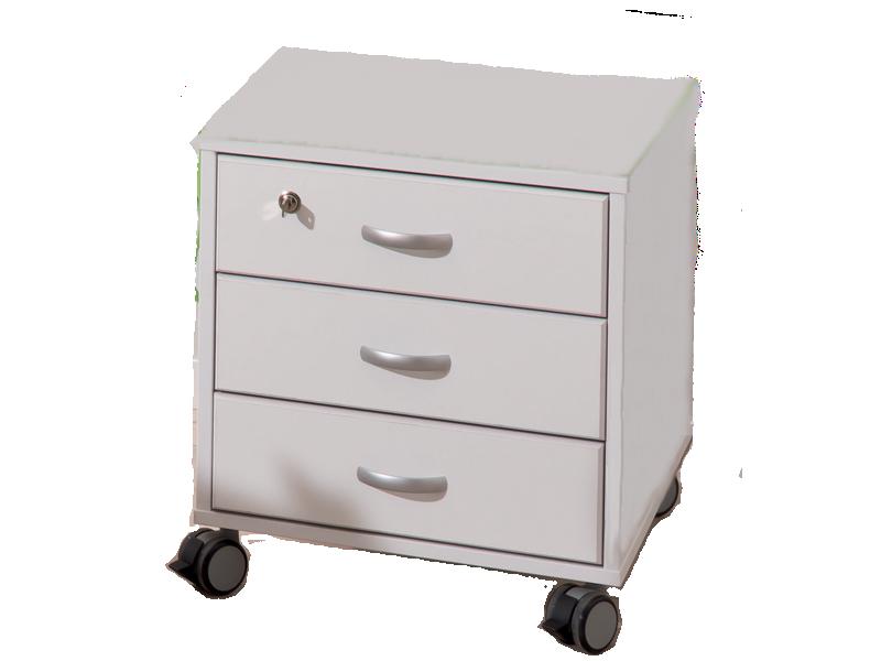 Paidi Schoolworld Rollcontainer 3S für Schreibtischserie Marco 2 mit 3  Schubkästen oberer Schubkasten abschließbar Farbe wählbar
