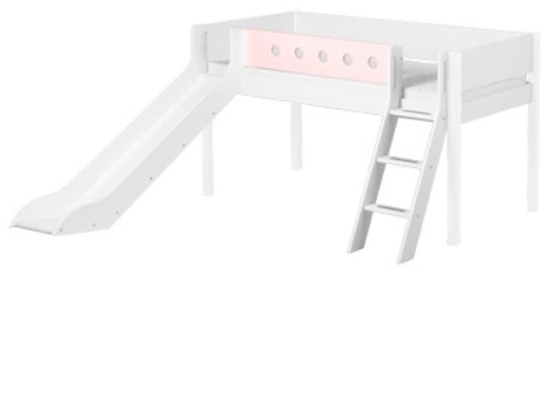 Etagenbett Flexa Absturzsicherung : Bett halbhoch flexa white 90x200 cm kinderbett massiv mit