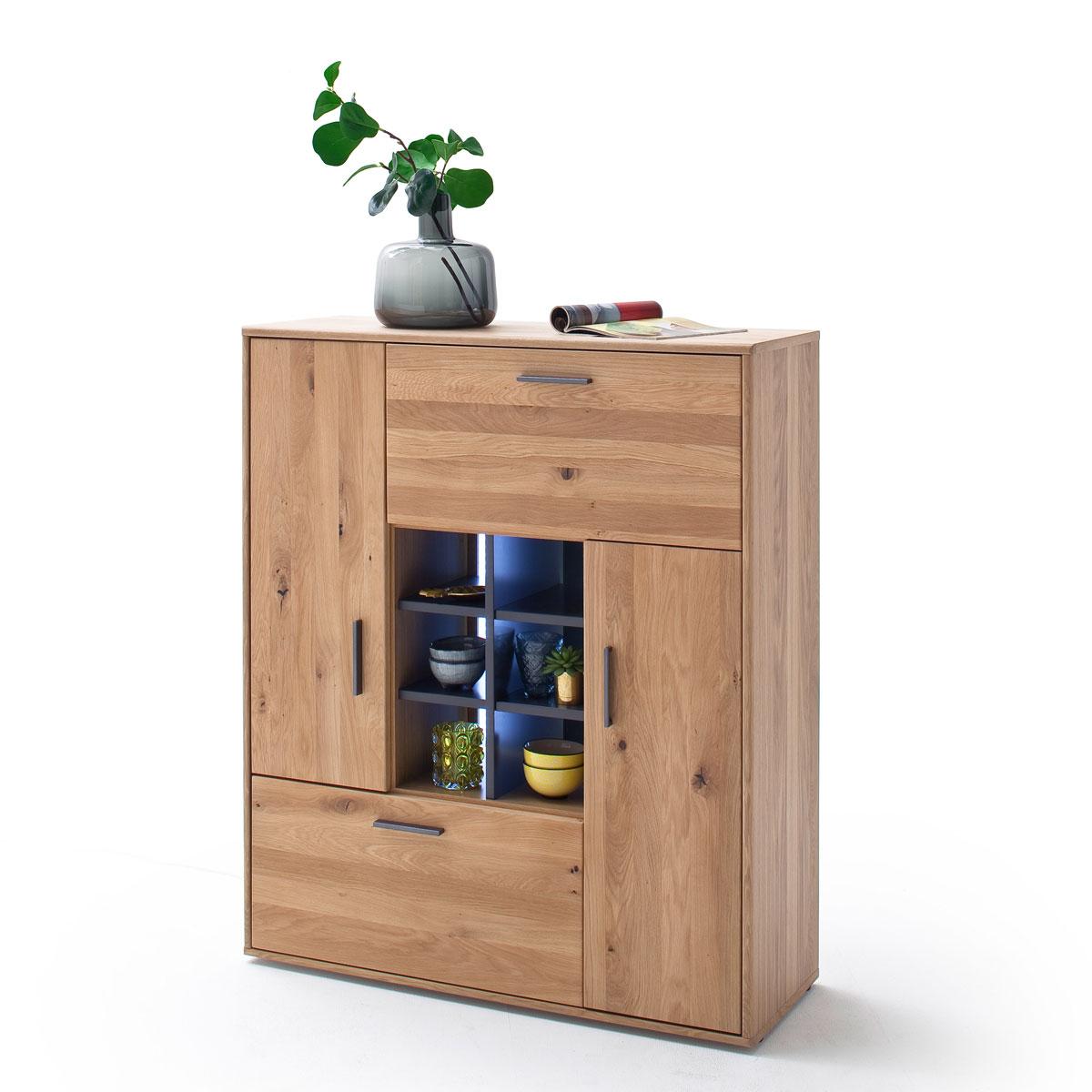 Mca Furniture Portland Highboard Por17t20 Fur Ihr Wohnzimmer Oder Esszimmer Anrichte Mit Zwei Turen Einem Schubkasten