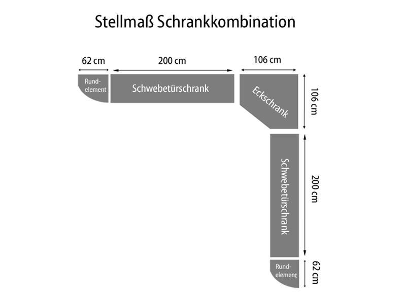 Nolte Attraction Schwebetürenschrank Kleiderschrank Ausführung 3A ...