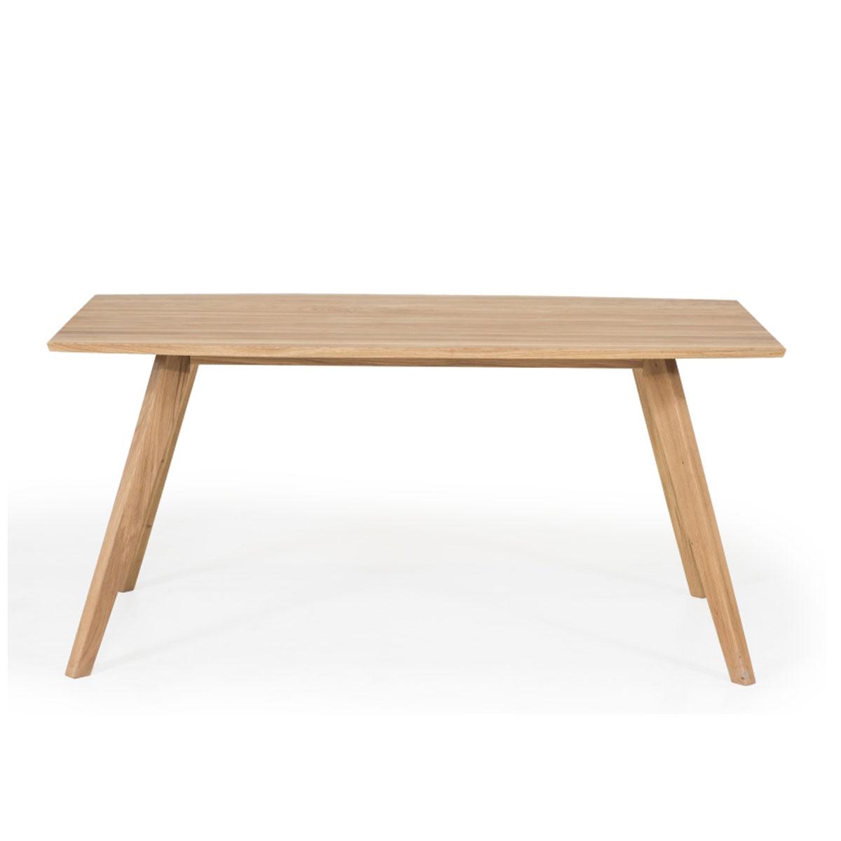 Standard Furniture Factory Esstisch Trondheim ca. 160x 90 cm Holztisch in Eiche geölt Massivholz rechteckig für Esszimmer und Küche