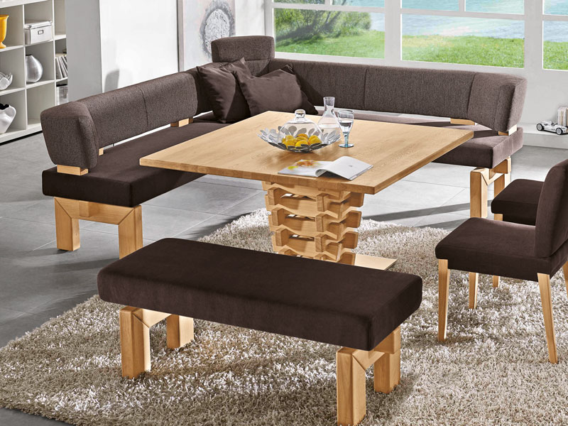 k w m bel brunch 7985 5 teilige essgruppe eckbank bankelement anbauelement tisch st hle f r. Black Bedroom Furniture Sets. Home Design Ideas