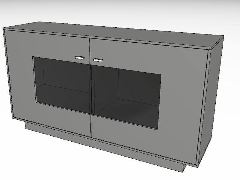 Kommode schwarz lack  Gwinner Media-Concept Sideboard SB4-1 Kommode für Wohnzimmer ...