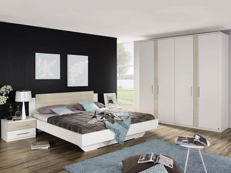 rauch dialog laura schlafzimmer dreht renschrank bett inkl nachttischpaar front korpus in. Black Bedroom Furniture Sets. Home Design Ideas