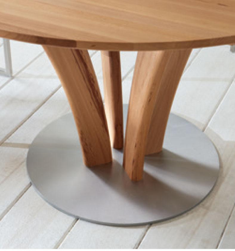 ... Esszimmer S KULTUR By Wöstmann Rondo Tischsystem Runder Esstisch  Massiver Tisch Mit Linoleum Klappeinlagen, ...