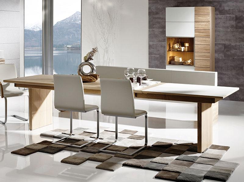 Voglauer V Montana Esszimmer Tisch Teilmassiv Mit Holzwangen