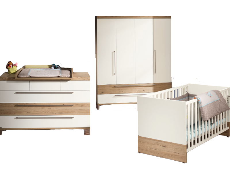 Paidi Remo Babyzimmer bestehend aus Kinderbett Kommode breit mit ...