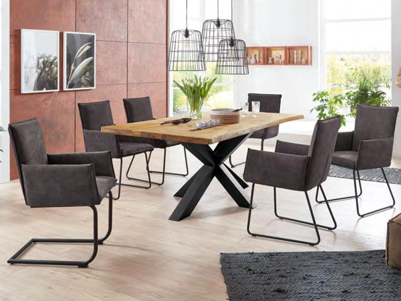 niehoff esstisch timba 4803 vintage tafel mit micado. Black Bedroom Furniture Sets. Home Design Ideas