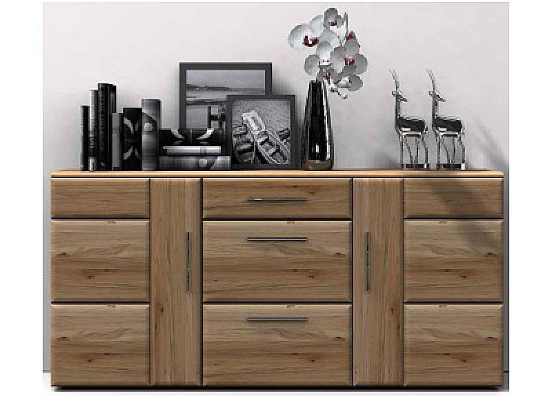 ideal mobel wora sideboard teilmassive kommode fur wohnzimmer oder esszimmer front in eiche bianco lamelle