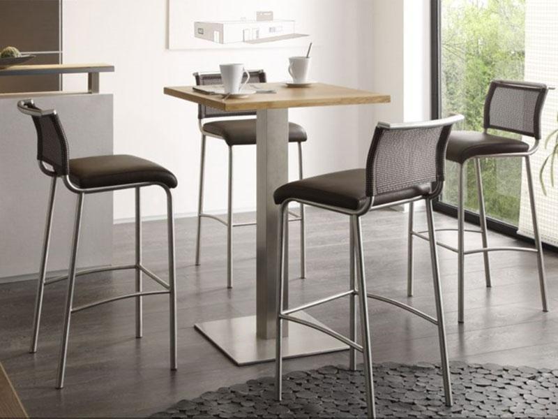 mwa aktuell hochtisch nova 2 mit s ulenfu tisch f r esszimmer oder k che gestellfarbe. Black Bedroom Furniture Sets. Home Design Ideas
