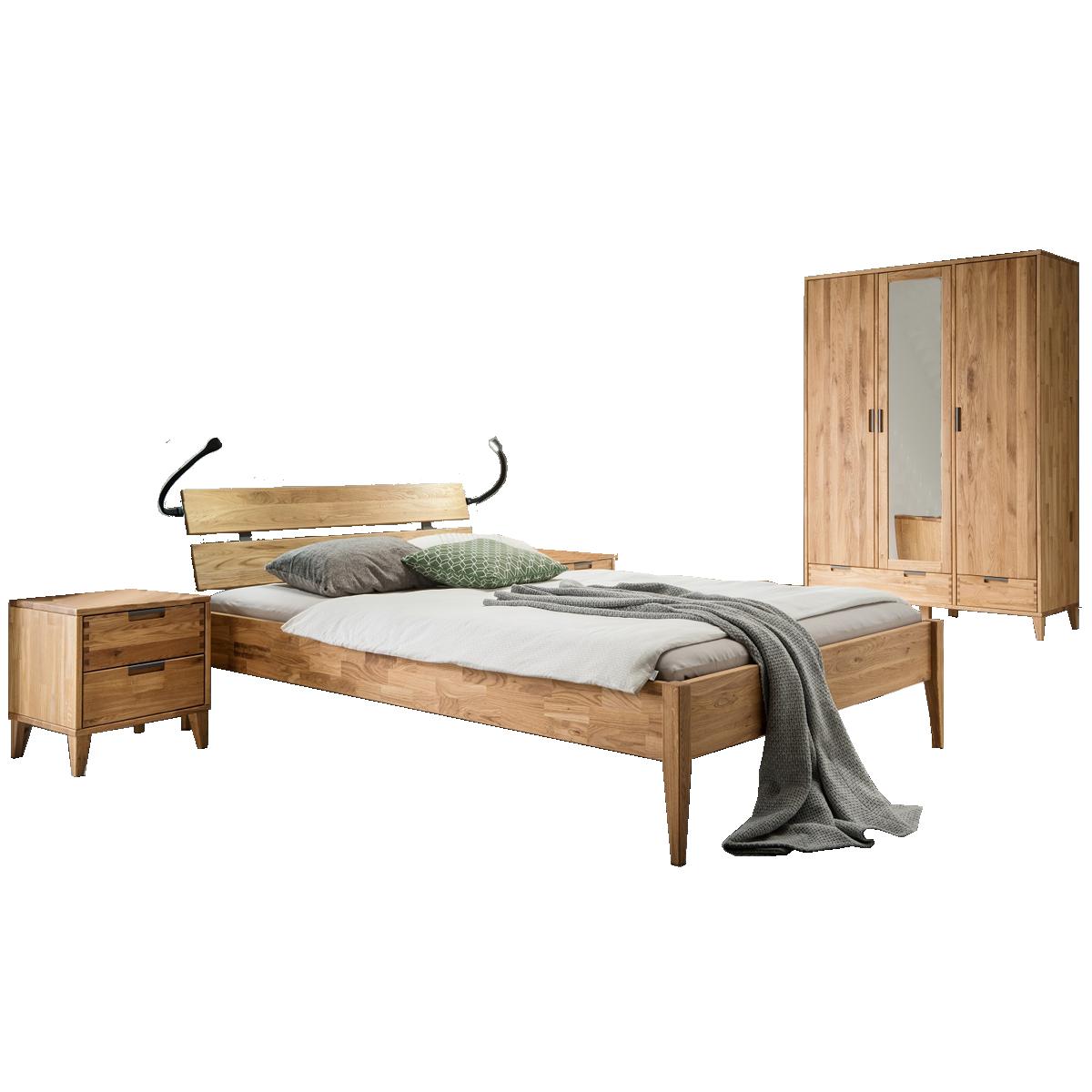 Skalik Meble Mido Schlafzimmer Bett mit Kopfteil 2 Nachtkommoden und ...