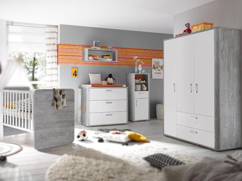 Mausbacher Frieda Kinderzimmer Im Dekor Vintage Wood Grey Und Weiss