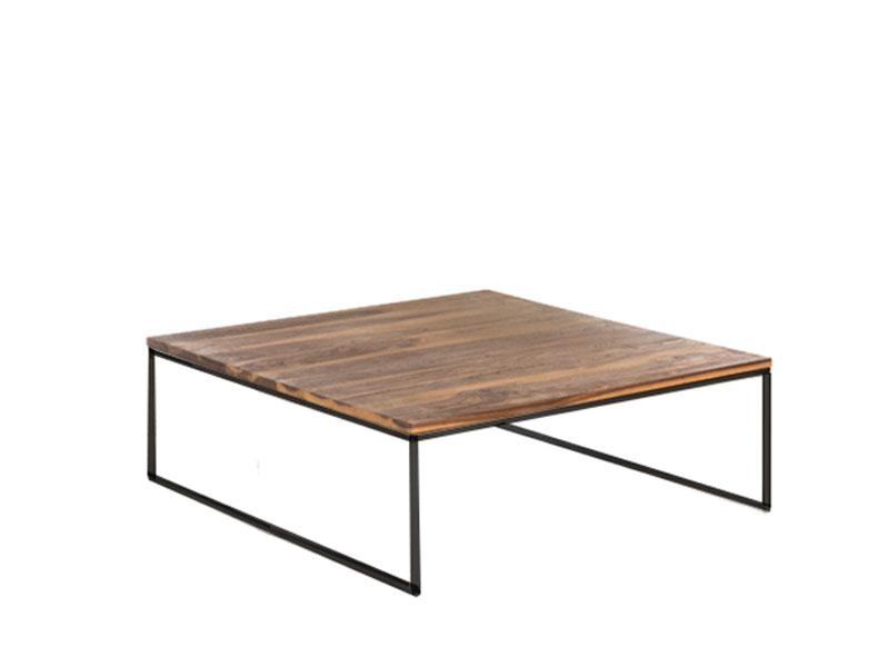 Willi Schillig Tisch 40024 Moderner Couchtisch Type Ln 125 Mit Massiv Geolter Nussbaum Holztischplatte Und Einem Anthrazitfarbenen Stahluntergestell