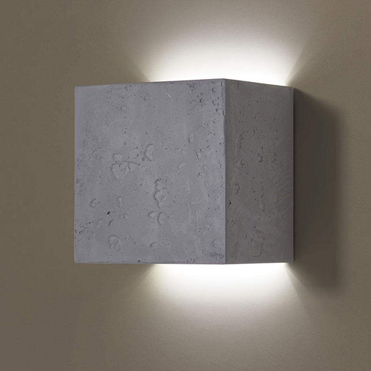 Hartmann Naturstücke Wand-Leuchte 3 mit Betonkubus Lampe für Wohnzimmer  oder Esszimmer