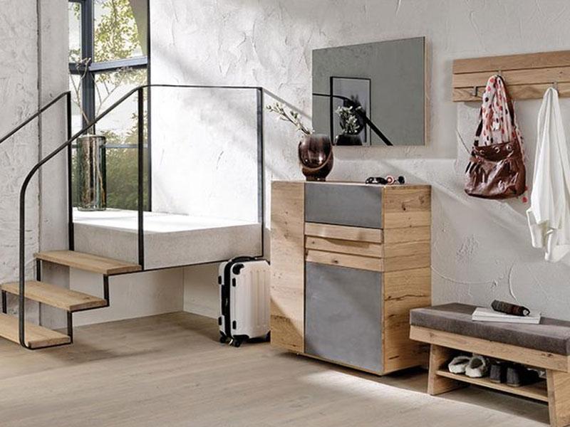 voglauer v organo dielenvorschlag 28 vierteilige kombination in wildeiche rustiko schwarz f r. Black Bedroom Furniture Sets. Home Design Ideas