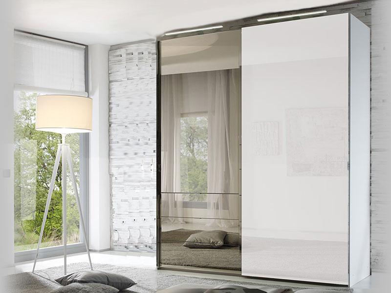 staud media 2t riger schwebet renschrank mit tv fach alpinwei glas mit spiegel 3er oder 5er. Black Bedroom Furniture Sets. Home Design Ideas