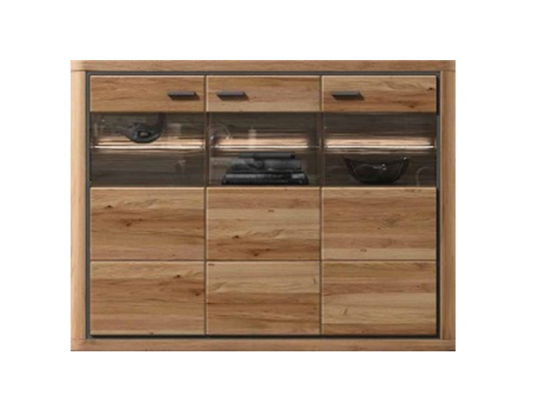 IDEAL-Möbel Highboard Kentra Type 11 moderne teilmassive Kommode für ...