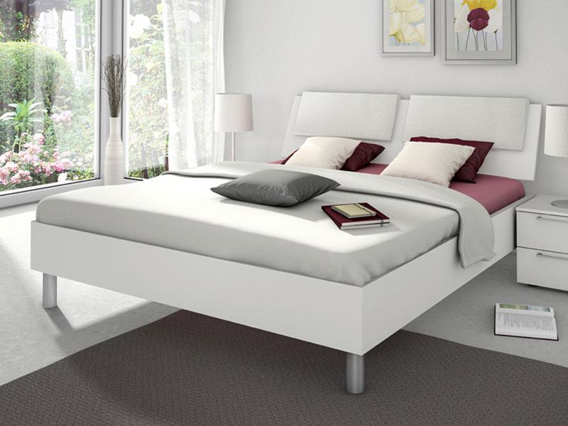 Nolte Sonyo Bett Doppelbett 1 Bettrahmen eckig mit Holz-Rückenlehne ...