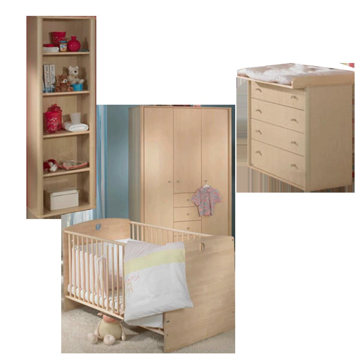 Paidi Fleximo Babyzimmer 4 Teilig Kinderbett Kleiderschrank Kommode