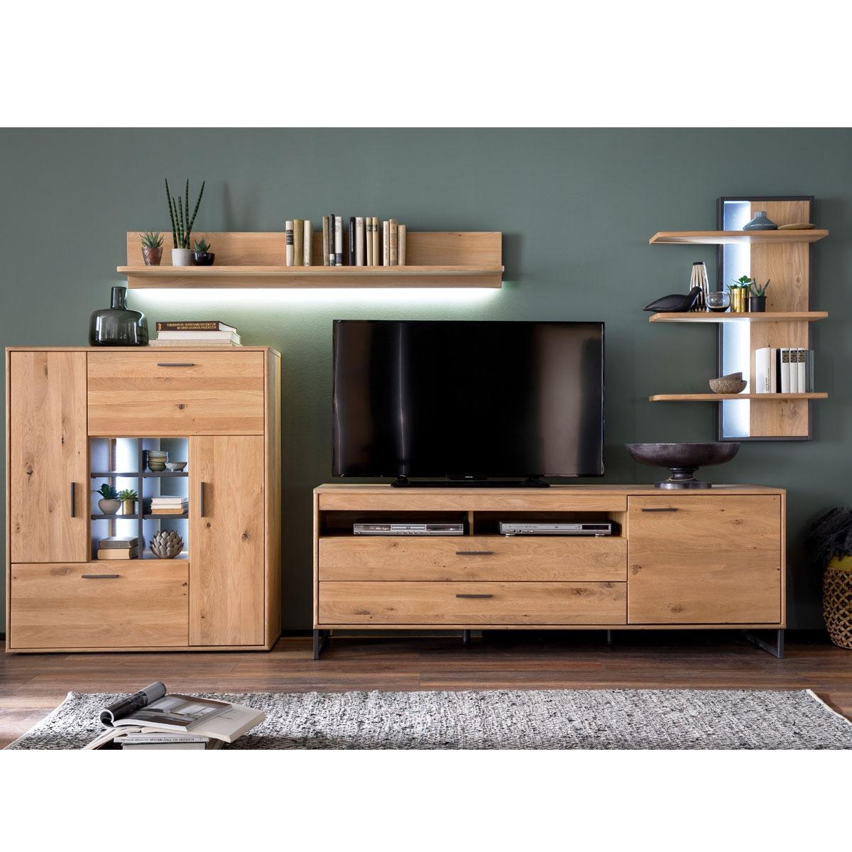 Mca Furniture Portland Wohnkombination 2 Fur Ihr Wohnzimmer 4