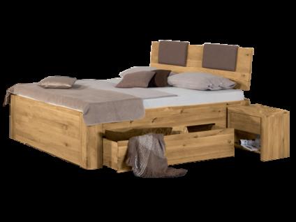 Neue Modular Primolar Asti Plus mit Kopfteil Matino mit Polster Pineto Füße Biello plus beidseitige Bettschubladen inkl. Verblendung Liegefläche ca. 180x200 cm optional mit Nachttischen