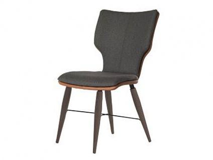 Bert Plantagie Stuhl Joni Cross Komfort 716C mit Bi-Color-Mattenpolsterung Polsterstuhl für Esszimmer Speisezimmerstuhl ohne Armlehnen Gestellausführung Naht Reißverschlußfarbe und Bezug wählbar