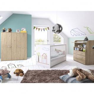 Röhr-Bush puzzle baby 3-teiliges Babyzimmer bestehend aus Babybett, Wickelkommode und Highboard Kleiderschrank Höhe ca. 143, 5 cm